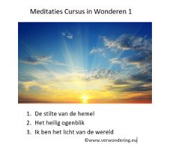 meditaties cursus in wonderen